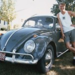 Vince and His '64 VW Bug in 1986